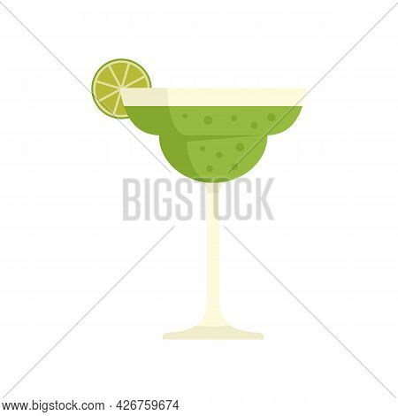 Tequila Lime Cocktail Icon. Flat Illustration Of Tequila Lime Cocktail Vector Icon Isolated On White