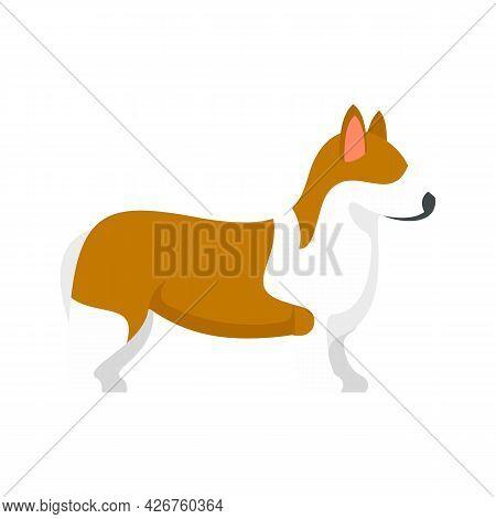 Corgi Pet Icon. Flat Illustration Of Corgi Pet Vector Icon Isolated On White Background
