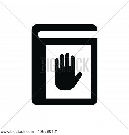 Oath Book Icon. Meticulously Designed Vector Eps File.