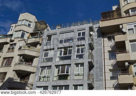 Sofia, Bulgaria - January 24, 2021: Residential Neighborhood With Interesting Modern Structures Maxi