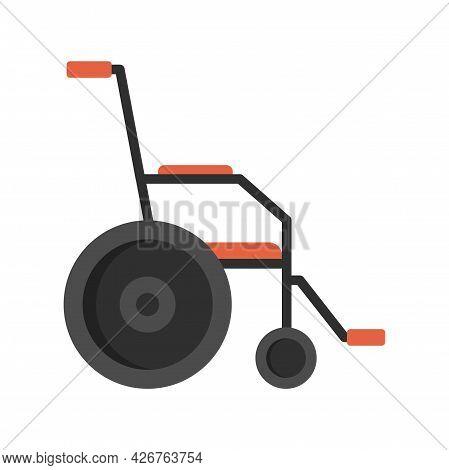 Classic Wheelchair Icon. Flat Illustration Of Classic Wheelchair Vector Icon Isolated On White Backg