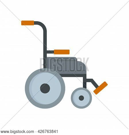 Safety Wheelchair Icon. Flat Illustration Of Safety Wheelchair Vector Icon Isolated On White Backgro