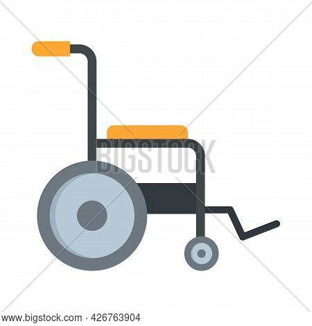Patient Wheelchair Icon. Flat Illustration Of Patient Wheelchair Vector Icon Isolated On White Backg