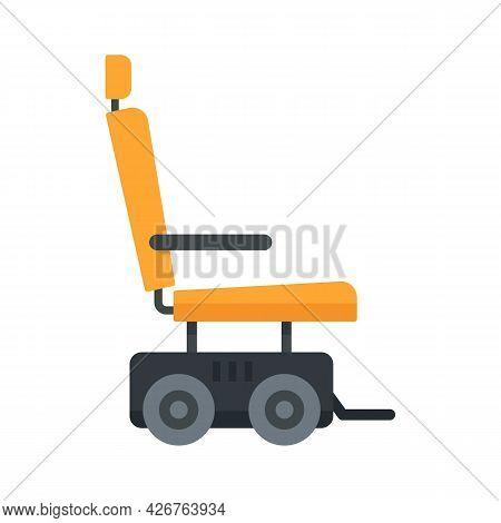 Motor Power Wheelchair Icon. Flat Illustration Of Motor Power Wheelchair Vector Icon Isolated On Whi
