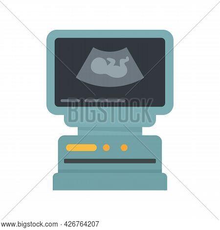 Ultrasound Icon. Flat Illustration Of Ultrasound Vector Icon Isolated On White Background