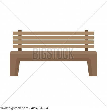 Street Bench Icon. Flat Illustration Of Street Bench Vector Icon Isolated On White Background