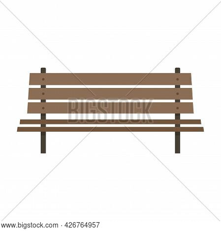 Outdoor Bench Icon. Flat Illustration Of Outdoor Bench Vector Icon Isolated On White Background