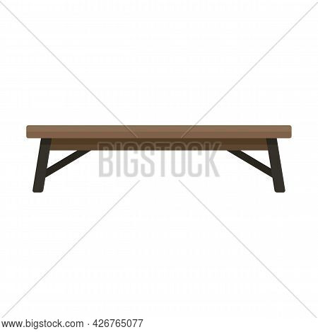 Public Bench Icon. Flat Illustration Of Public Bench Vector Icon Isolated On White Background