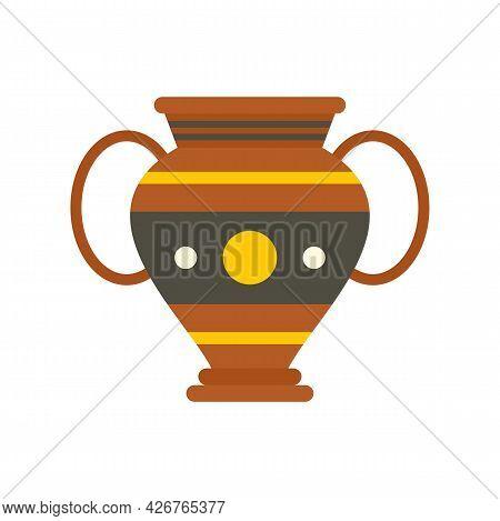 Egypt Vase Icon. Flat Illustration Of Egypt Vase Vector Icon Isolated On White Background