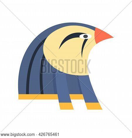 Egypt Falcon Head Icon. Flat Illustration Of Egypt Falcon Head Vector Icon Isolated On White Backgro