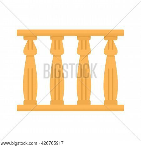 Egypt Temple Towers Icon. Flat Illustration Of Egypt Temple Towers Vector Icon Isolated On White Bac