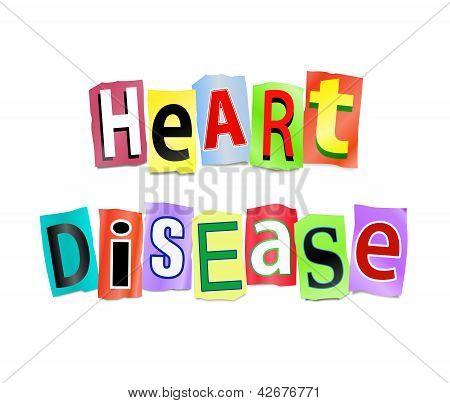 Concepto de enfermedad cardíaca.