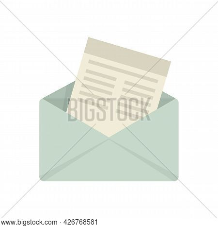 Mail Invitation Icon. Flat Illustration Of Mail Invitation Vector Icon Isolated On White Background