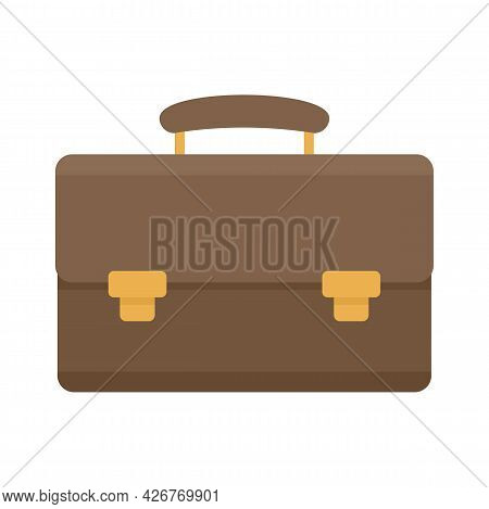 Leather Case Icon. Flat Illustration Of Leather Case Vector Icon Isolated On White Background