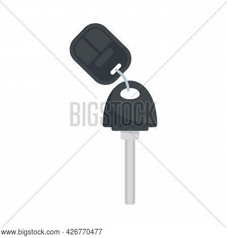 Car Key Icon. Flat Illustration Of Car Key Vector Icon Isolated On White Background