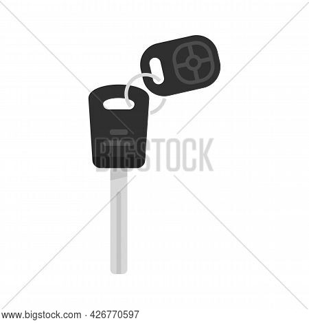 Car Alarm Protection Icon. Flat Illustration Of Car Alarm Protection Vector Icon Isolated On White B