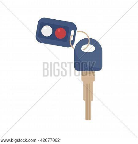 Safety Car Alarm Icon. Flat Illustration Of Safety Car Alarm Vector Icon Isolated On White Backgroun