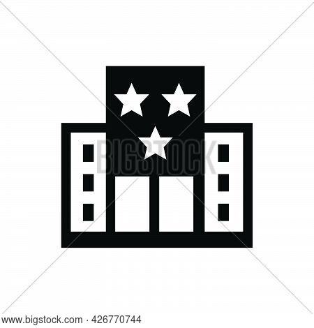 Hotel Resort Icon. Meticulously Designed Vector Eps File.