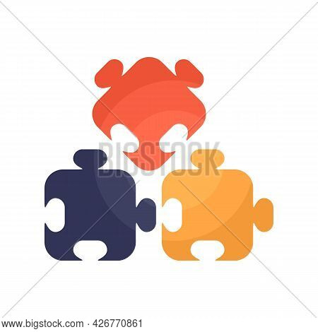 Puzzle Part Icon. Flat Illustration Of Puzzle Part Vector Icon Isolated On White Background