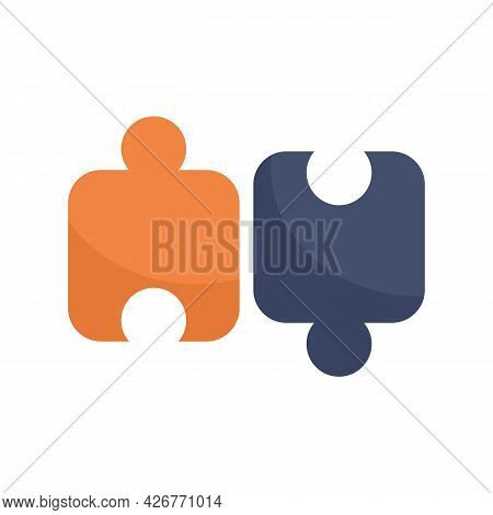 Scheme Puzzle Icon. Flat Illustration Of Scheme Puzzle Vector Icon Isolated On White Background