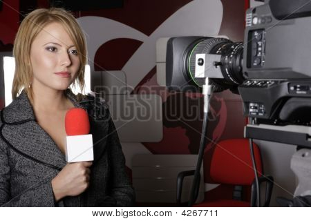 Live Transmission With Television Presenter