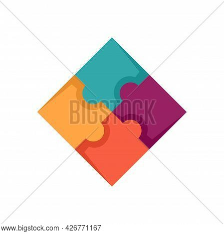 Sequence Puzzle Icon. Flat Illustration Of Sequence Puzzle Vector Icon Isolated On White Background