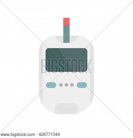 Glucose Meter Icon. Flat Illustration Of Glucose Meter Vector Icon Isolated On White Background