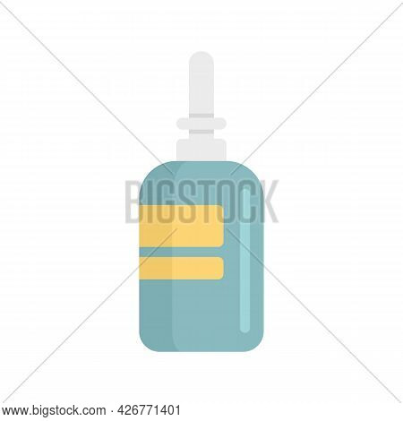 Nose Sprayer Icon. Flat Illustration Of Nose Sprayer Vector Icon Isolated On White Background