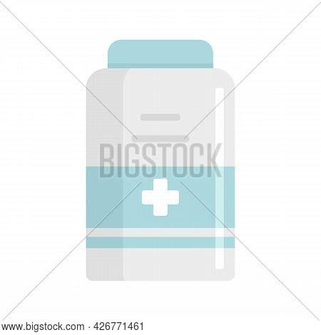 Medical Jar Icon. Flat Illustration Of Medical Jar Vector Icon Isolated On White Background