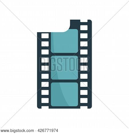 Film Icon. Flat Illustration Of Film Vector Icon Isolated On White Background