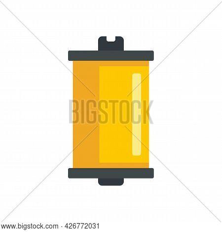 Photo Camera Film Icon. Flat Illustration Of Photo Camera Film Vector Icon Isolated On White Backgro