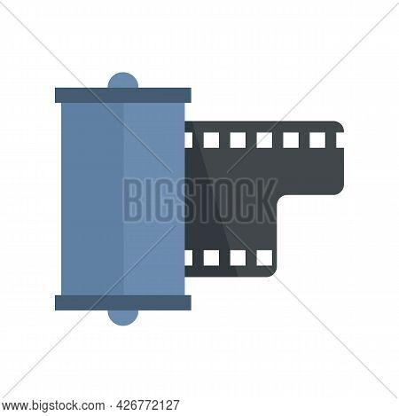 Negative Film Camera Icon. Flat Illustration Of Negative Film Camera Vector Icon Isolated On White B