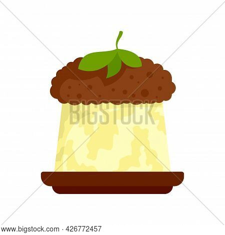 Greek Jelly Cake Icon. Flat Illustration Of Greek Jelly Cake Vector Icon Isolated On White Backgroun