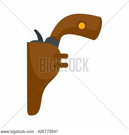 Revolver Icon. Flat Illustration Of Revolver Vector Icon Isolated On White Background