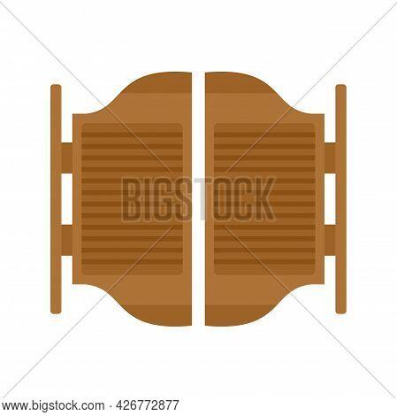 Saloon Doors Icon. Flat Illustration Of Saloon Doors Vector Icon Isolated On White Background