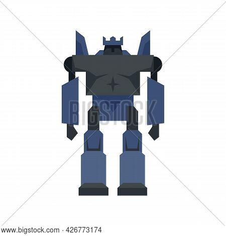 Cyborg Robot Transformer Icon. Flat Illustration Of Cyborg Robot Transformer Vector Icon Isolated On