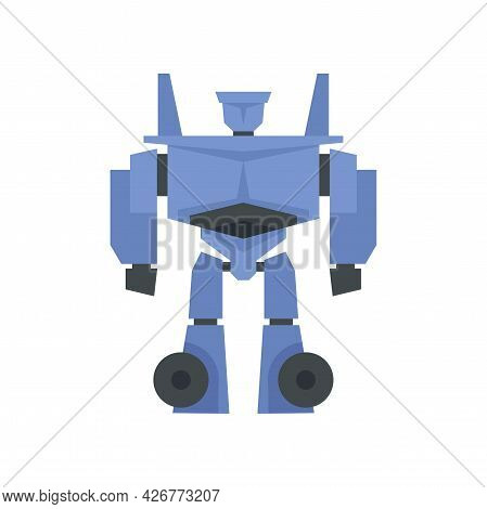 Alien Robot Icon. Flat Illustration Of Alien Robot Vector Icon Isolated On White Background