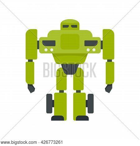 Super Robot Transformer Icon. Flat Illustration Of Super Robot Transformer Vector Icon Isolated On W