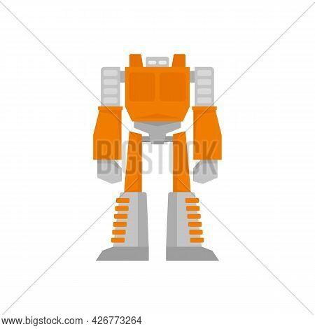 Space Robot Transformer Icon. Flat Illustration Of Space Robot Transformer Vector Icon Isolated On W