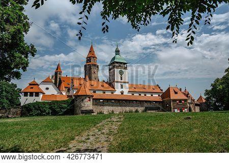 Bouzov Castle, Moravia,czech Republic.romantic Fairytale Chateau With Eight-storey Watchtower Built