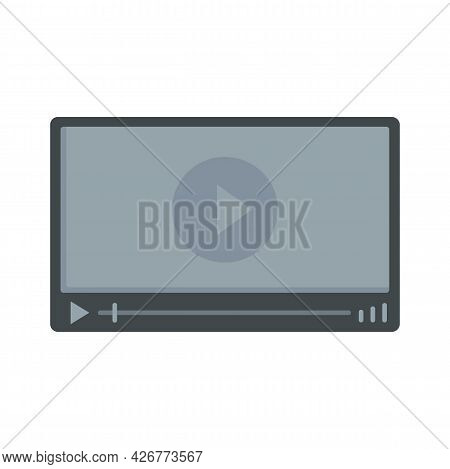 Video Player Icon. Flat Illustration Of Video Player Vector Icon Isolated On White Background