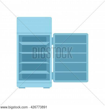 Open Fridge Icon. Flat Illustration Of Open Fridge Vector Icon Isolated On White Background