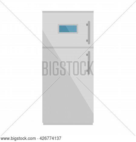 Modern Fridge Icon. Flat Illustration Of Modern Fridge Vector Icon Isolated On White Background