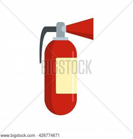 Fire Extinguisher Icon. Flat Illustration Of Fire Extinguisher Vector Icon Isolated On White Backgro
