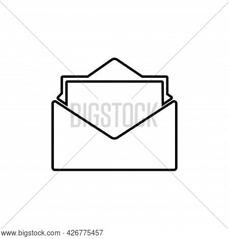 Open Envelope Icon Isolated On White Background. Open Envelope Icon In Trendy Design Style For Web S