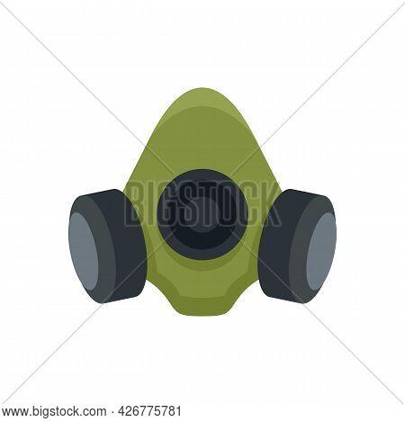 Gas Mask Icon. Flat Illustration Of Gas Mask Vector Icon Isolated On White Background