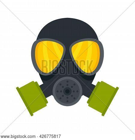 Chemical Mask Icon. Flat Illustration Of Chemical Mask Vector Icon Isolated On White Background