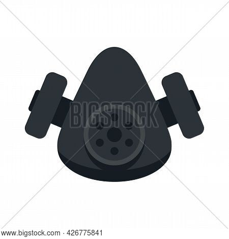 Chemical Gas Mask Icon. Flat Illustration Of Chemical Gas Mask Vector Icon Isolated On White Backgro