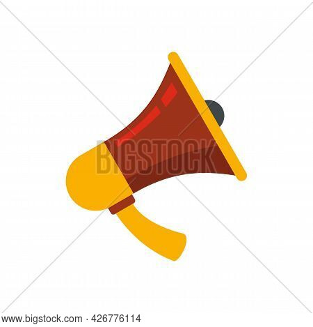 Handly Megaphone Icon. Flat Illustration Of Handly Megaphone Vector Icon Isolated On White Backgroun
