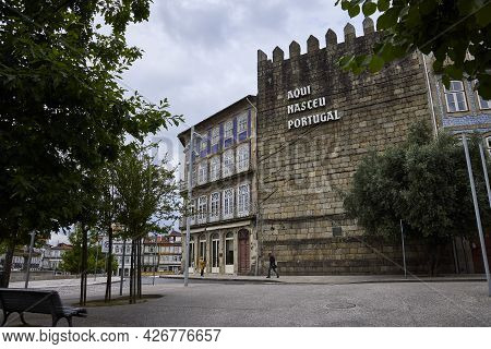 Guimaraes (portugal), June 19, 2021. Portugal Was Born In This City In The North Of The Country.